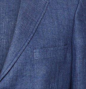 Blauer Blazer aus Leinen